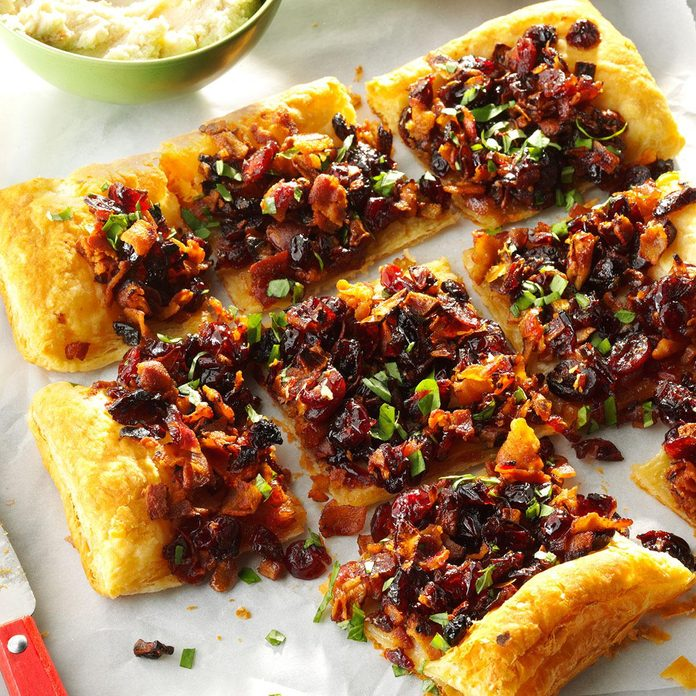 Cranberry Bacon Galette