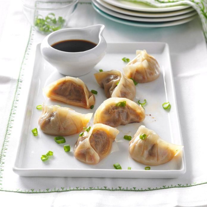 Sesame-Beef Pot Stickers