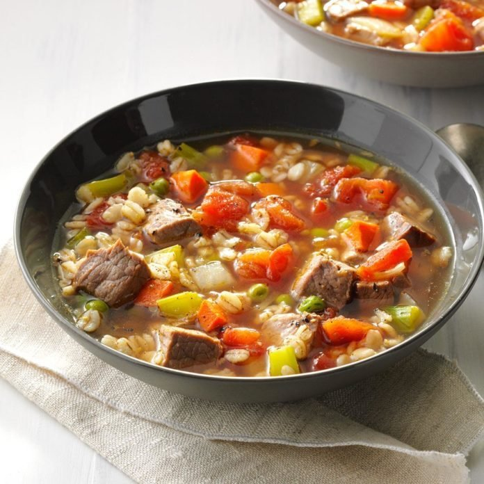The Classic: Comforting Beef Barley Soup