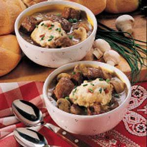 Stew with Confetti Dumplings