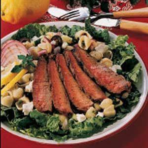 Pasta Salad with Steak