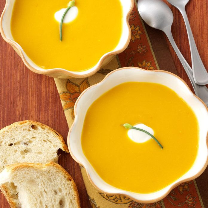 Chipotle Carrot and Butternut Squash Soup