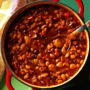Tangy Baked Seven Beans