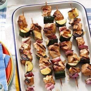 Marinated Chicken & Zucchini Kabobs