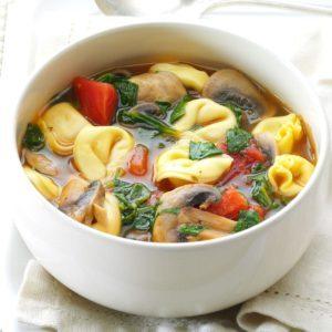 Mushroom Tortellini Soup