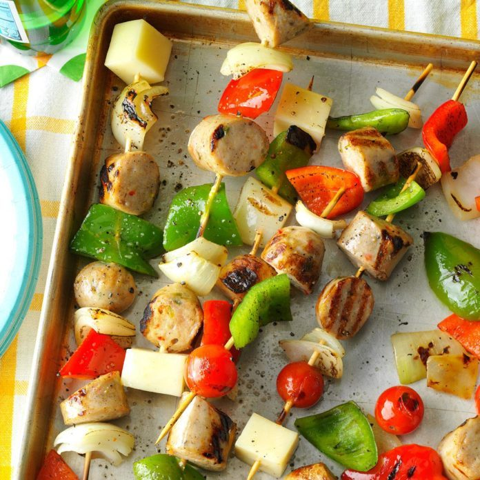 Italian Sausage and Provolone Skewers