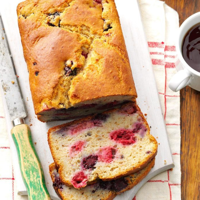 Double-Berry Quick Bread