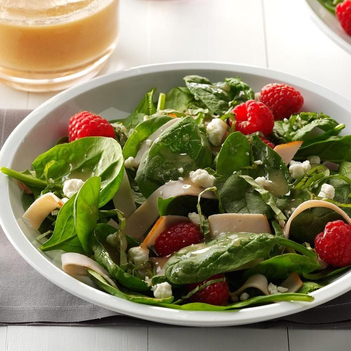 Smoked Turkey Salad with Raspberries