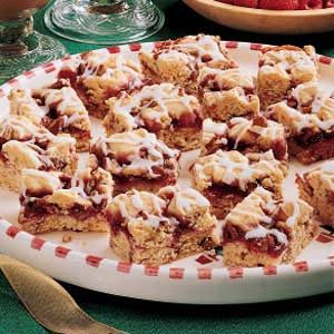Raspberry Nut Bars