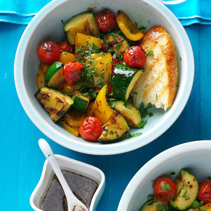 Grilled Vegetable Salad with Poppy Seed Dressing