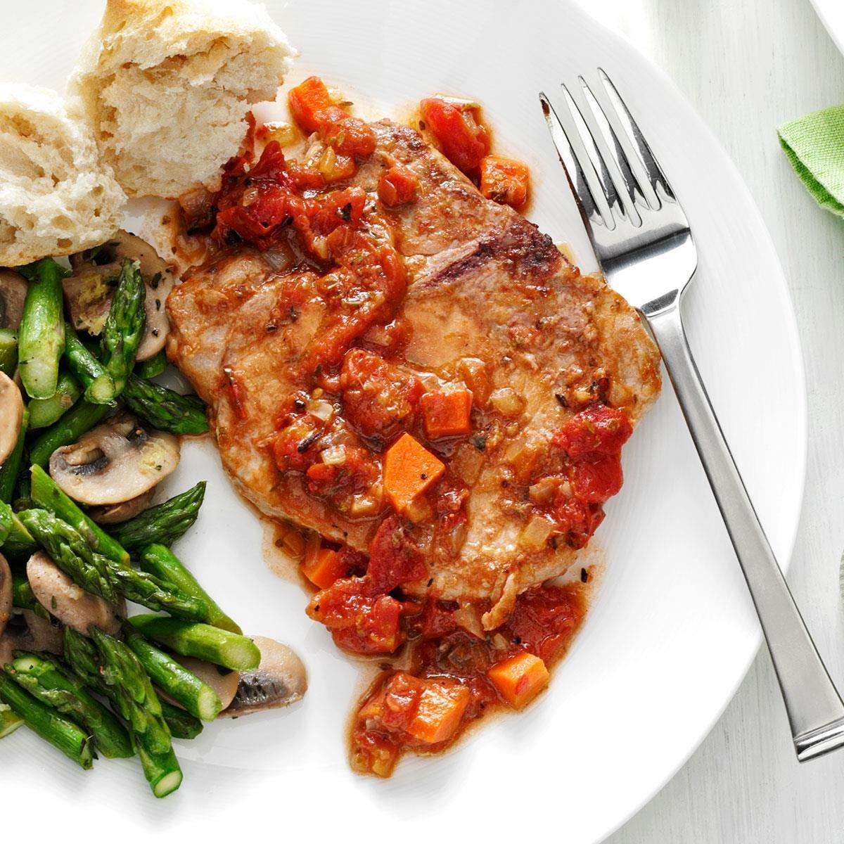 Tomato-Topped Italian Pork Chops Recipe