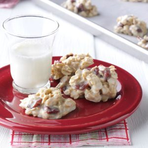 White Almond No-Bake Cookies