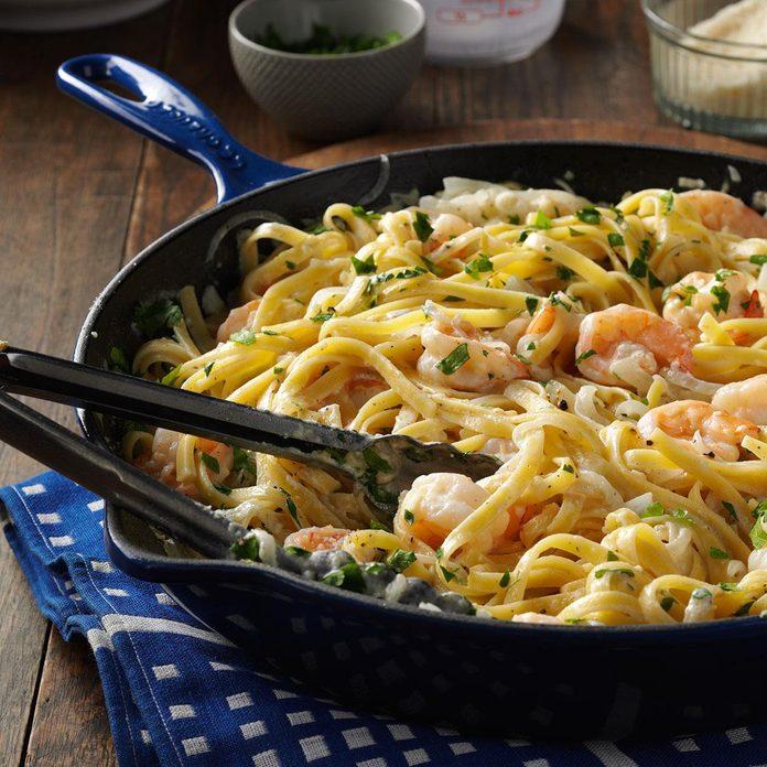 Shrimp Alfredo Fettuccine
