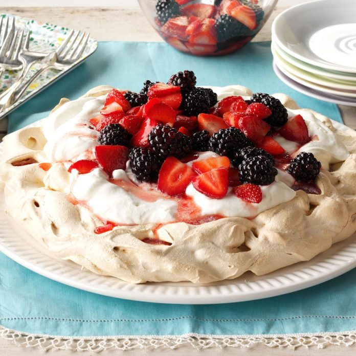 Inspired by Jane's Red, White and Blue Pavlova