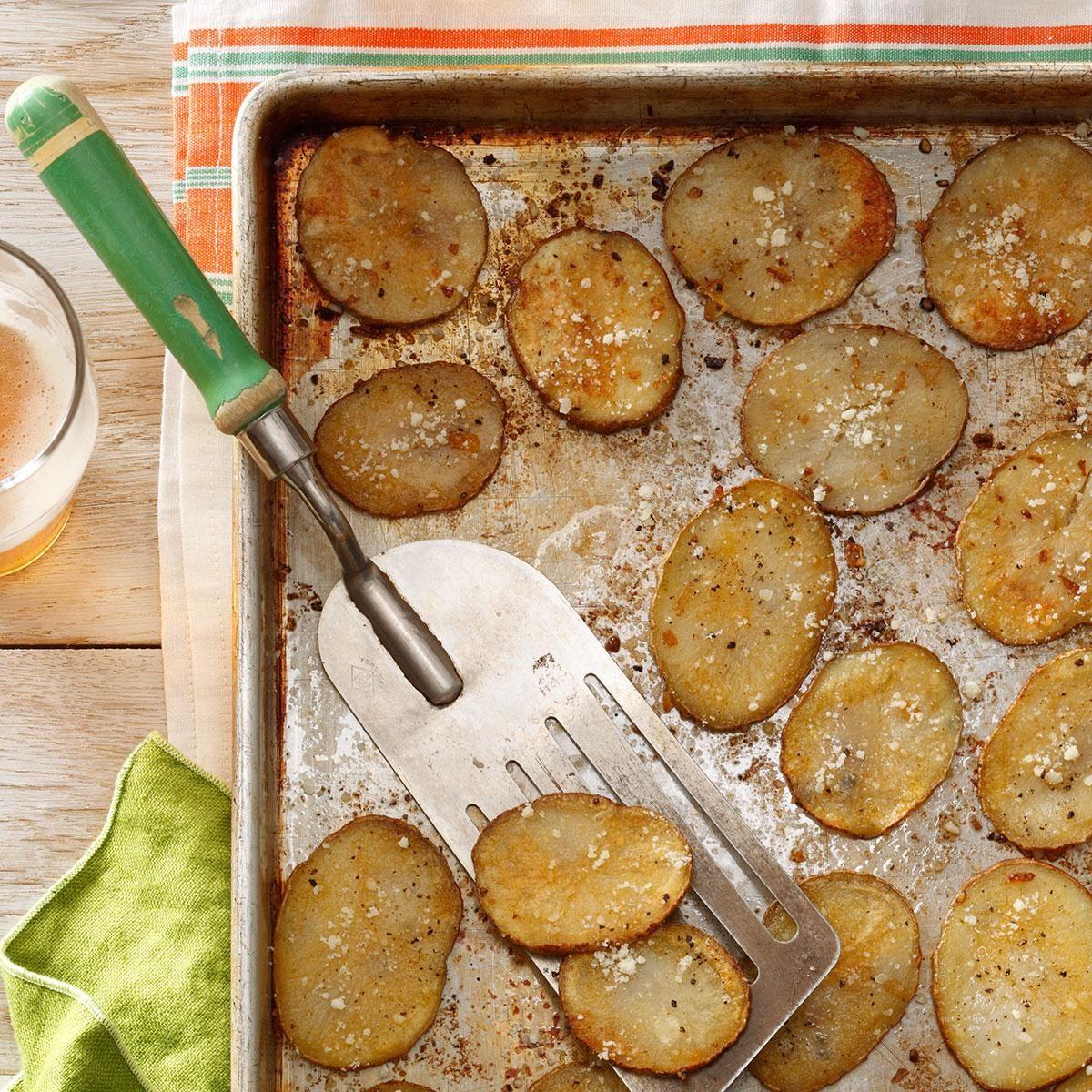Oven Parmesan Crisps