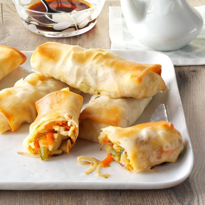 Inspired by: P.F. Changs' House-Made Chicken Egg Rolls