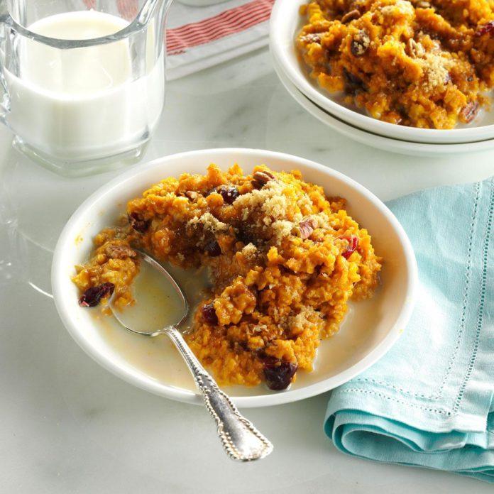 Breakfast: Pumpkin-Pecan Baked Oatmeal