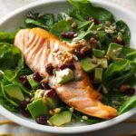 Salmon & Spinach Salad with Avocado