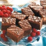 Raspberry Truffle Brownies