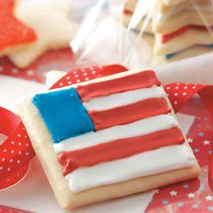 Sugar Star & Flag Cookies