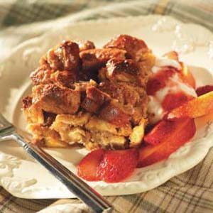 Peanut Butter Breakfast Bread Pudding