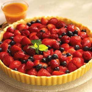 Butterscotch Berry Tart