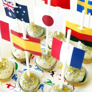 Olympic Flag Cupcake Decorations