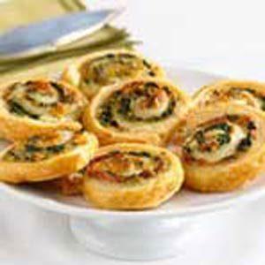 Campbells Spinach-Cheese Swirls