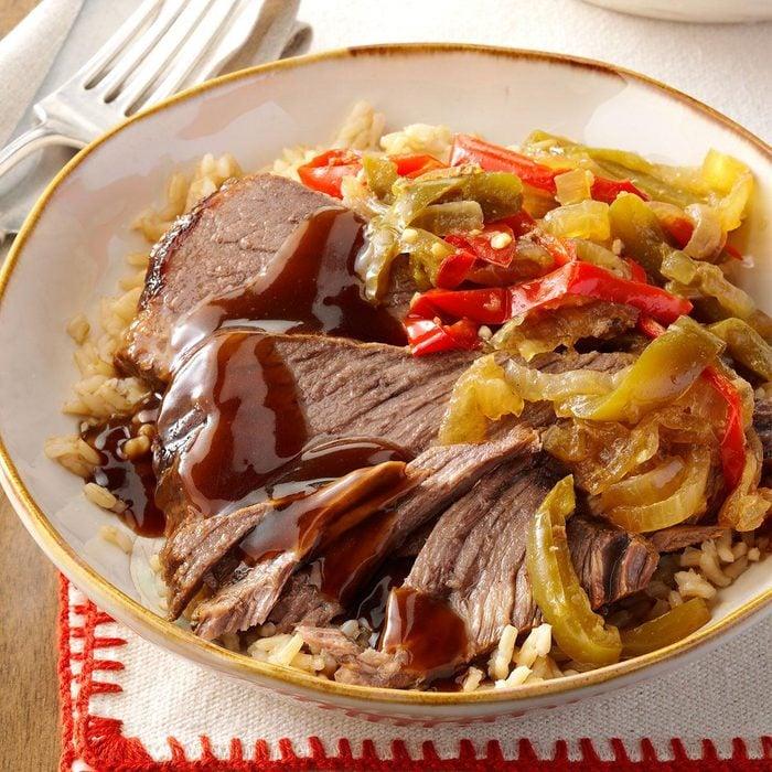 Pressure Cooker Pepper Steak