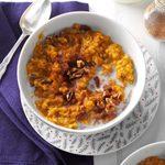 Pressure-Cooker Pumpkin Spice Oatmeal