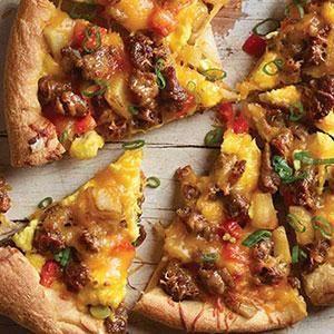 Sausage Breakfast Pizza