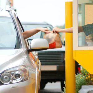 Drive thru fast food restaurant