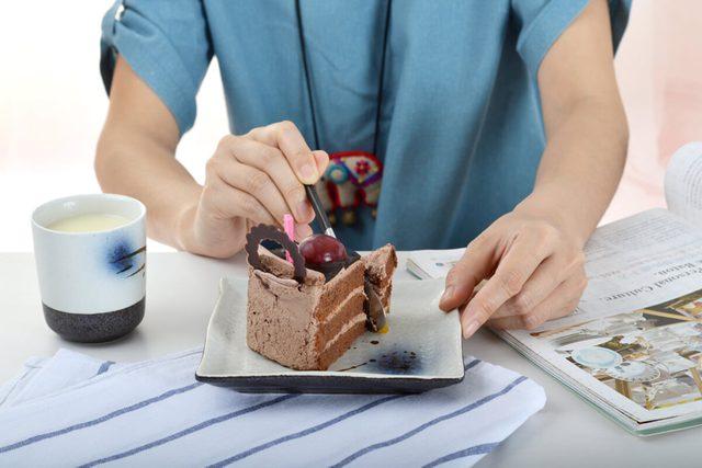 Enjoy the delicious chocolate cake