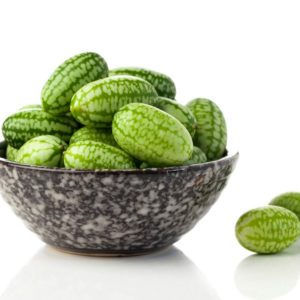 Mexican sour gherkin isolated on white background