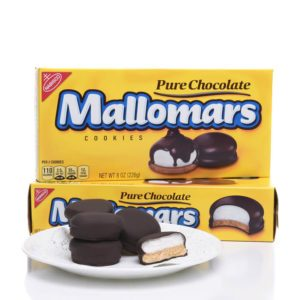 Two boxes of Mallomars Cookies.