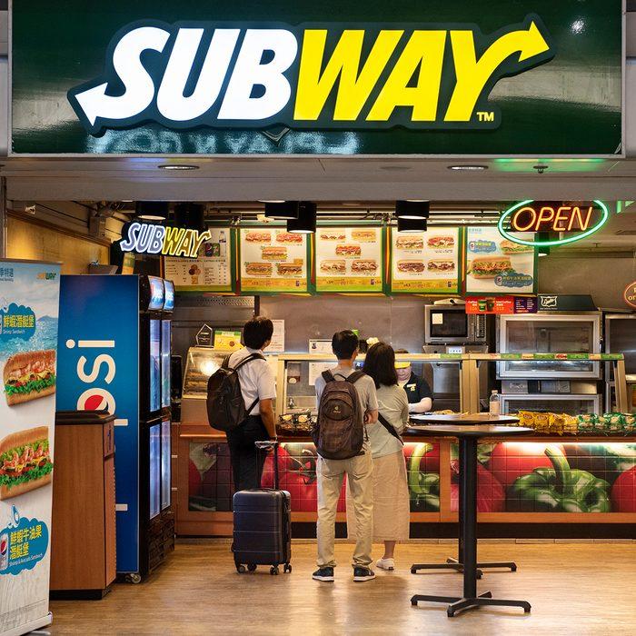 HONG KONG, CHINA - 2019/07/02: American sandwich fast food restaurant franchise Subway store seen in Hong Kong. (Photo by Budrul Chukrut/SOPA Images/LightRocket via Getty Images)