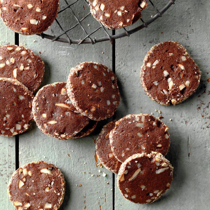 Chocolate Almond Wafers