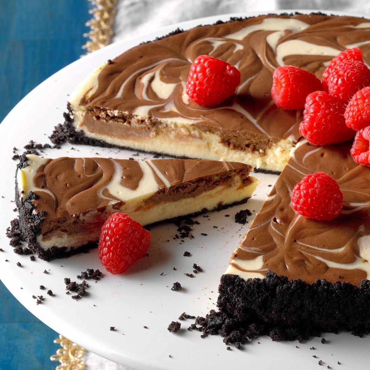 Chocolate Swirled Cheesecake Recipe