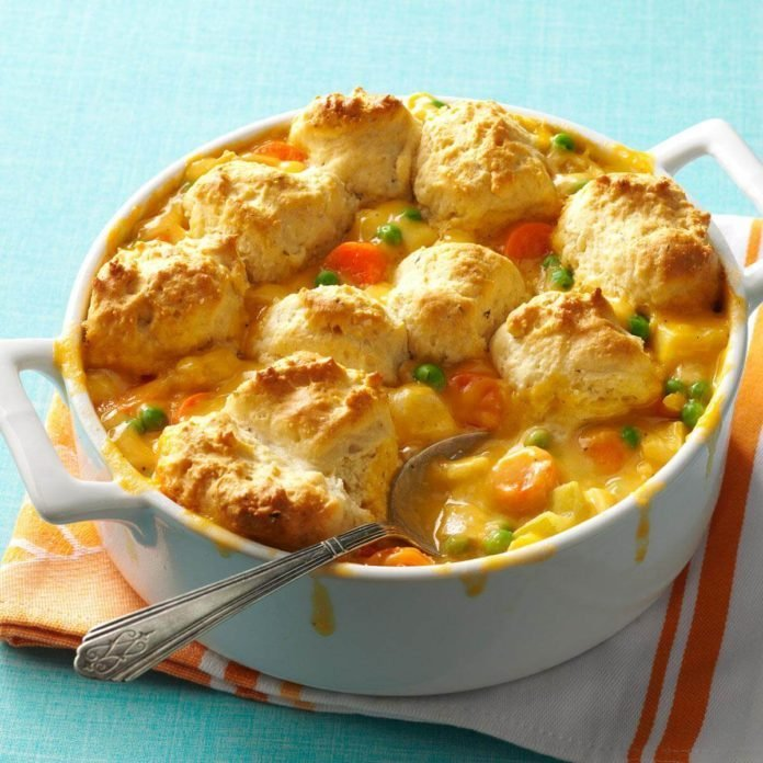 Easy Cheddar Chicken Potpie