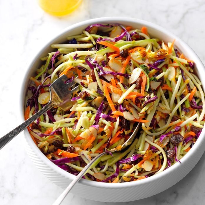 Honey-Orange Broccoli Slaw