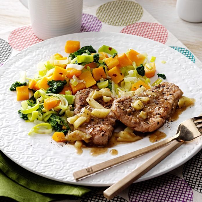 Pork Medallions with Squash & Greens