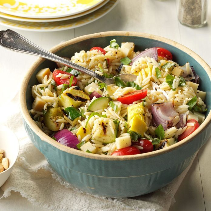 Thursday's Lunch: Farmer's Market Orzo Salad