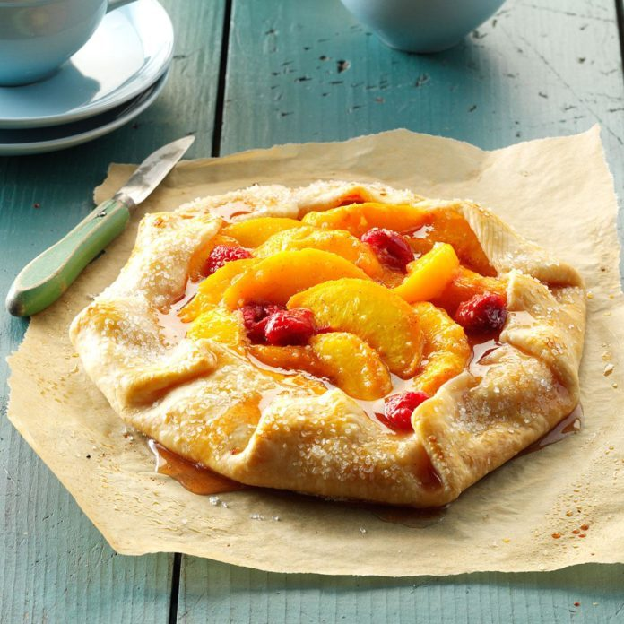 Raspberry Peach Tart