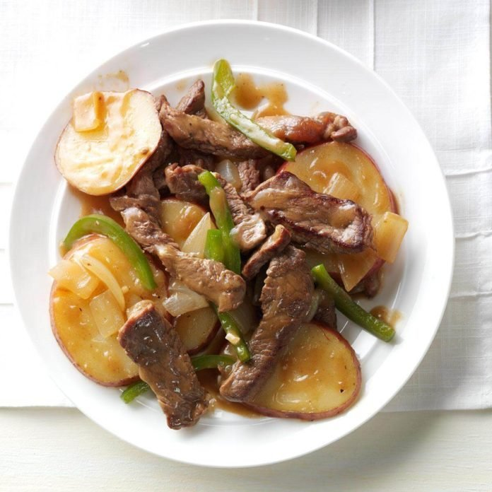 Pepper Steak with Potatoes