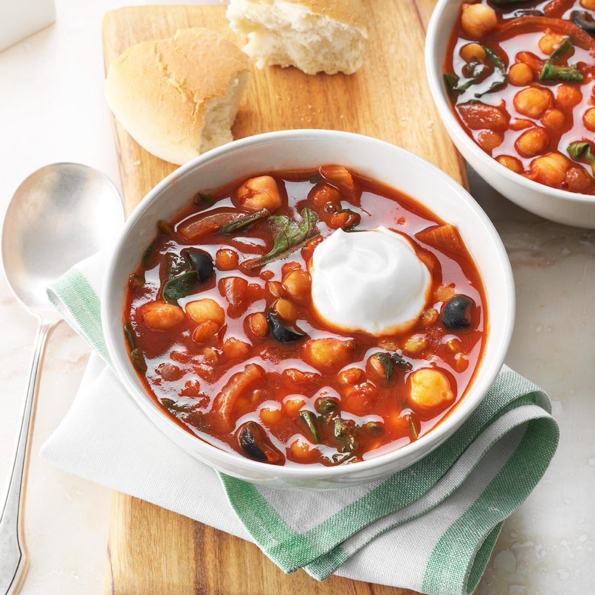 Spicy Lentil Amp Chickpea Stew Recipe Taste Of Home