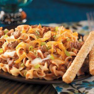 Lighter Hamburger Noodle Casserole