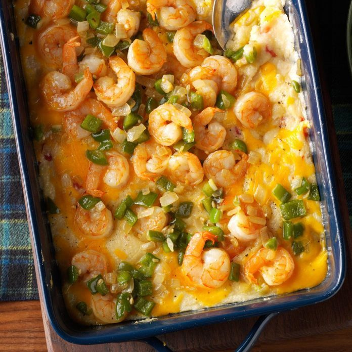 South Carolina: Oven-Baked Shrimp & Grits