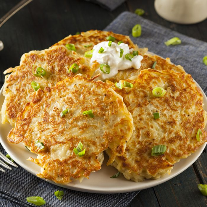 Homemade Boxty Irish Potato Pancakes for Breakfast; Shutterstock ID 251283436