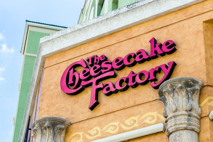 FORT LAUDERDALE, FLA/USA - APRIL 10, 2017: The Cheesecake Factory exterior. The Cheesecake Factory, Inc. is a restaurant company and distributor of cheesecakes based in the United States.; Shutterstock ID 627012125; Job: Taste of Home