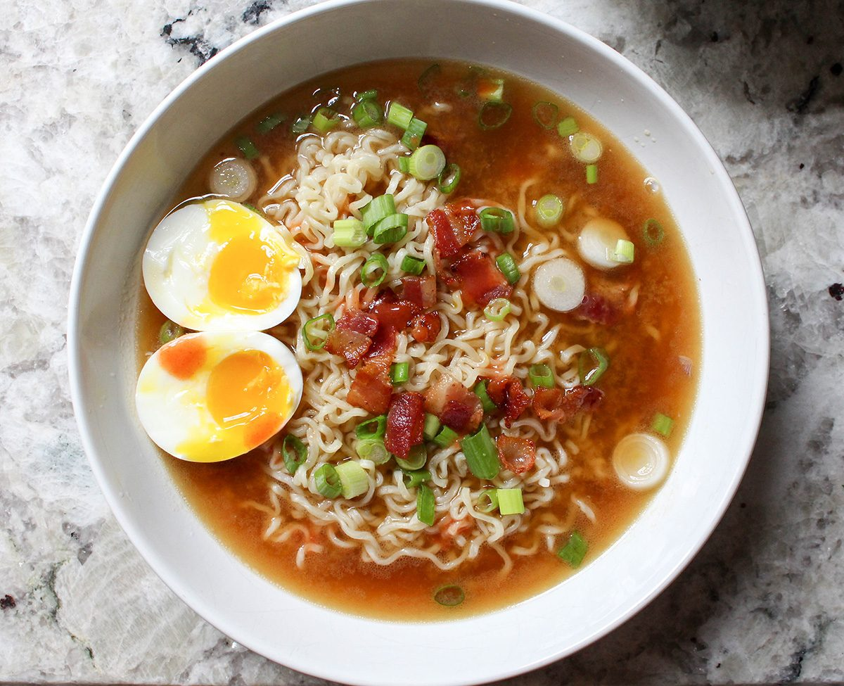 Ramen with egg on top